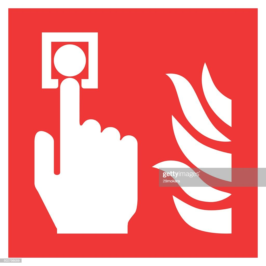 Fire safety sign FIRE ALARM CALL POINT