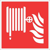 Fire safety sign FIRE HOSE REEL