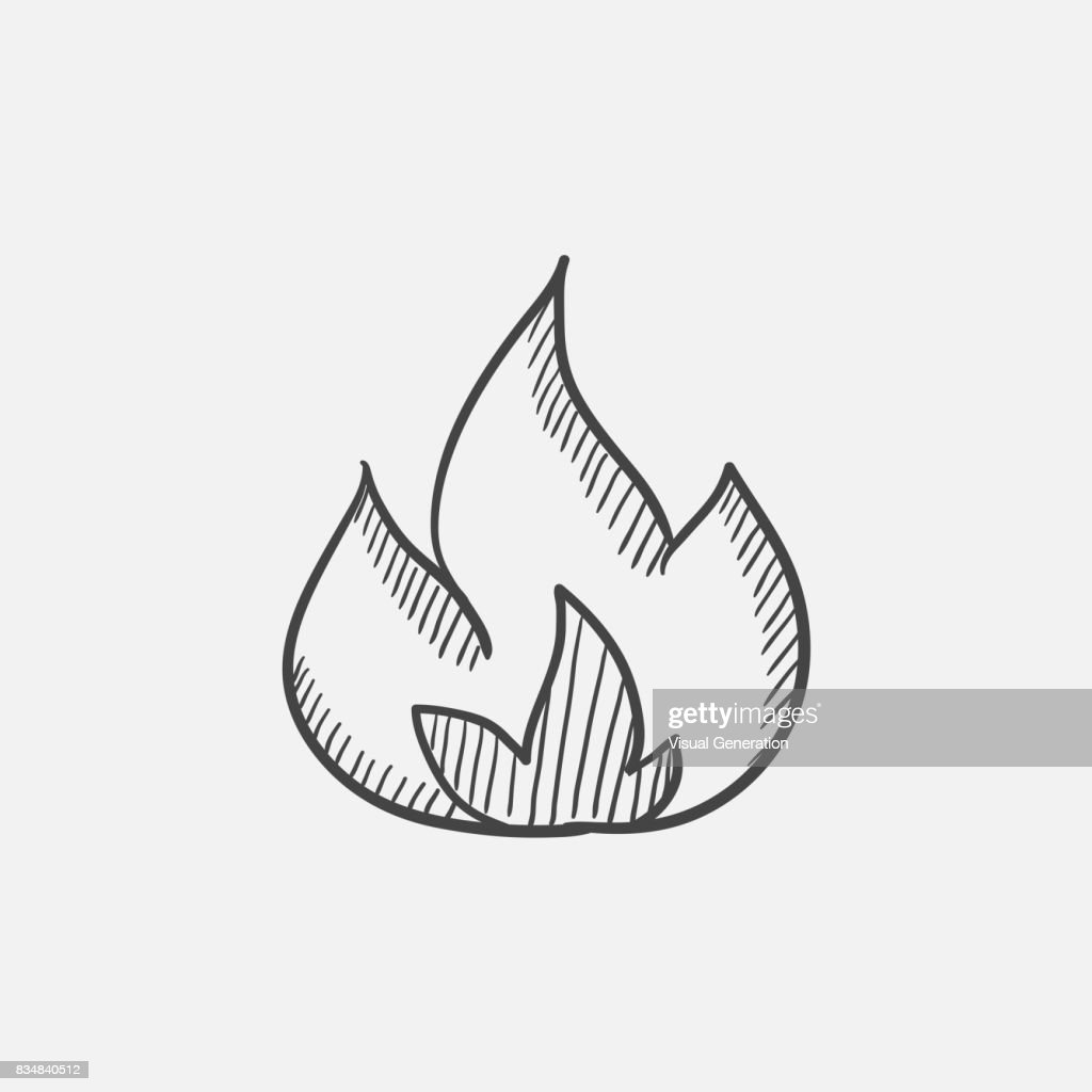 Fire  sketch ico