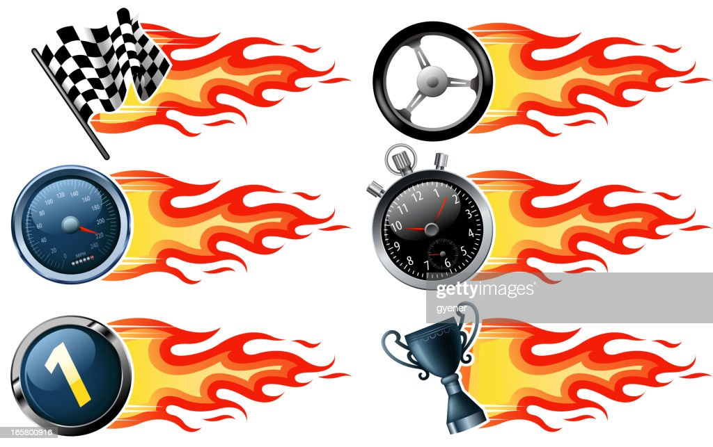 fire speed banners : stock illustration