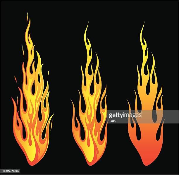 illustrations, cliparts, dessins animés et icônes de autocollants de feu - flamme
