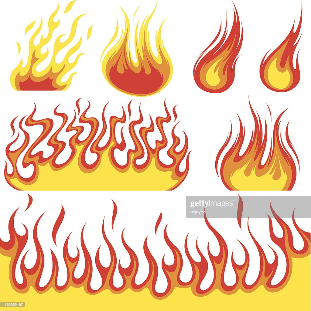 Fire Symbols Vector Art Getty Images