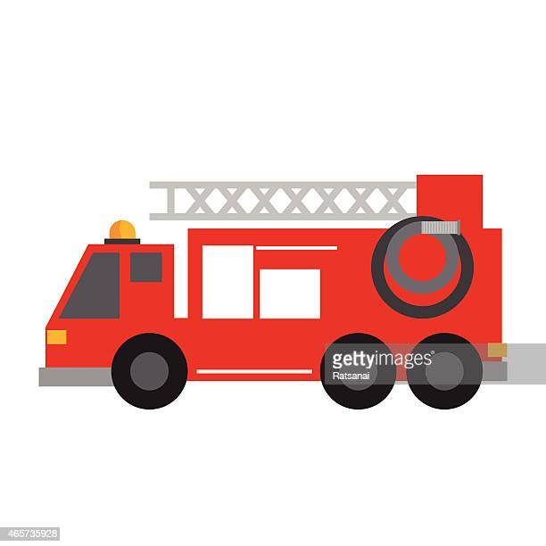 fire truck icon - fire engine stock illustrations, clip art, cartoons, & icons