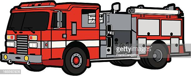 fire truck - fire engine stock illustrations, clip art, cartoons, & icons
