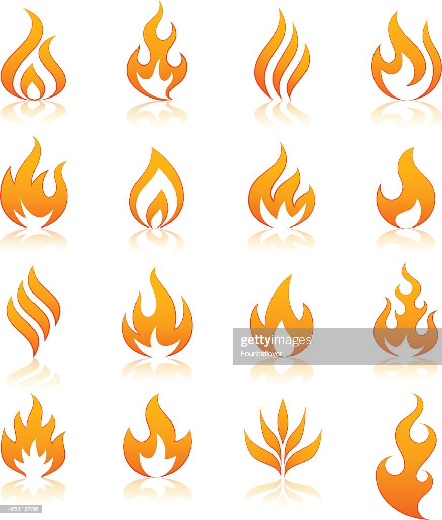 fire vector icons