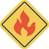 Fire Warning Vector Illustration