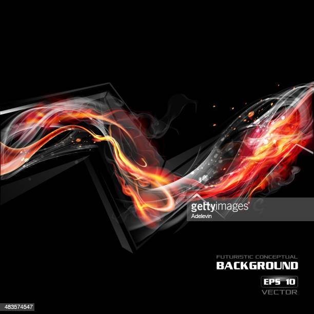 fire wave - flare stack stock illustrations, clip art, cartoons, & icons