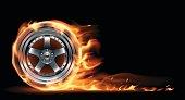 Fire wheel illustration
