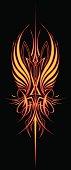 Fire Wing Pinstripe: Vertical Version