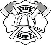 Firefighter Badge Illustration