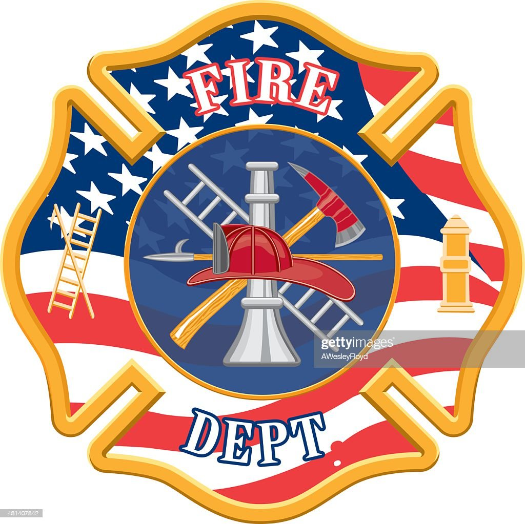 Firefighter Department Cross