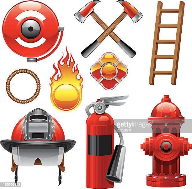 Pompier éléments de Design