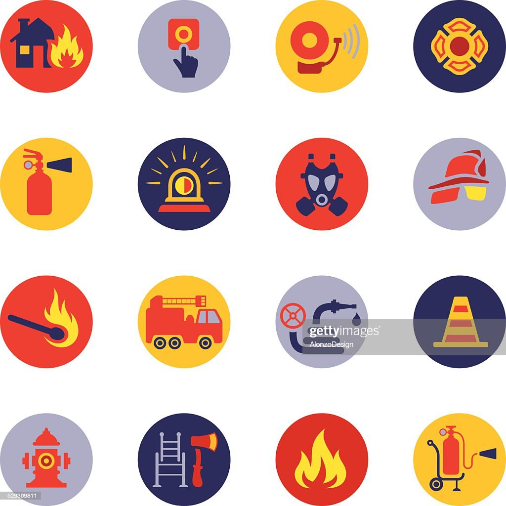 Firefighter Icon Set