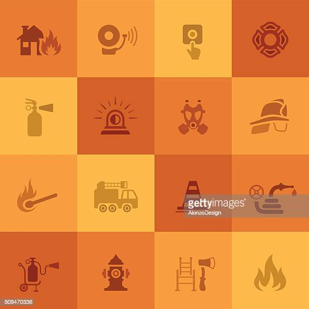 Icônes de pompier