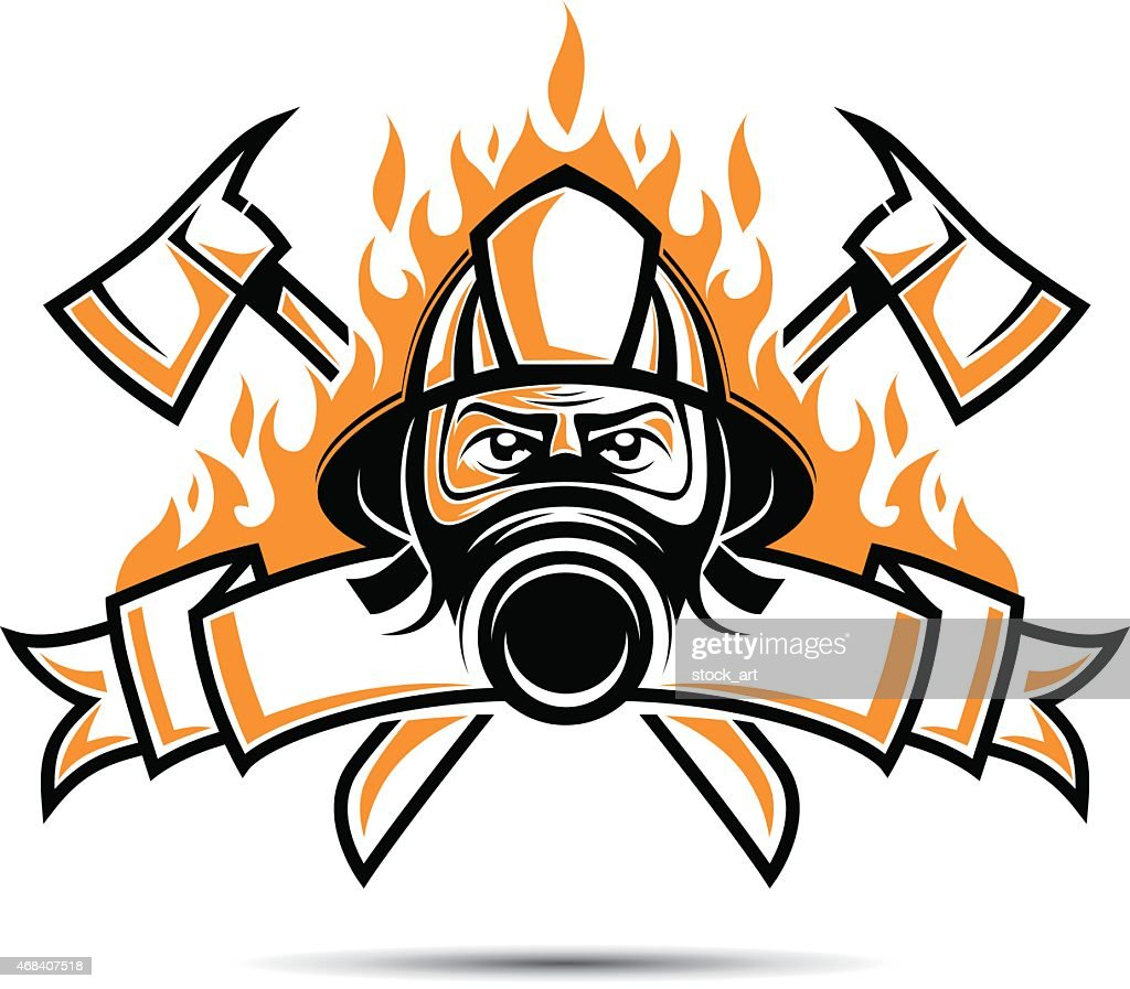 firefighter logo vector art getty images rh gettyimages com firefighter logo svg firefighter logo images
