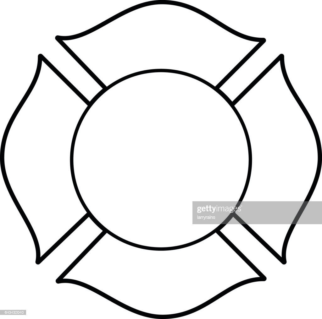 Firefighter Maltese Cross Illustration