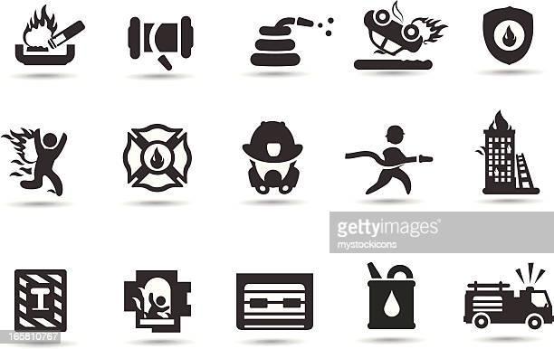 ilustrações de stock, clip art, desenhos animados e ícones de bombeiro símbolos - corpo de bombeiros