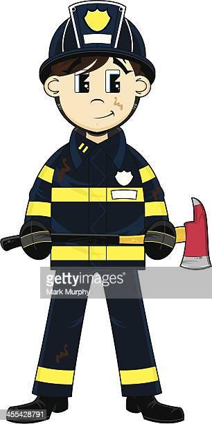 Pompier avec un Axe