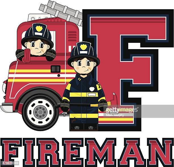 Bomberos & de bomberos de letra F