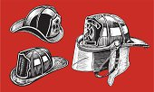 Firefighter's Helmets - 1950 thru Today