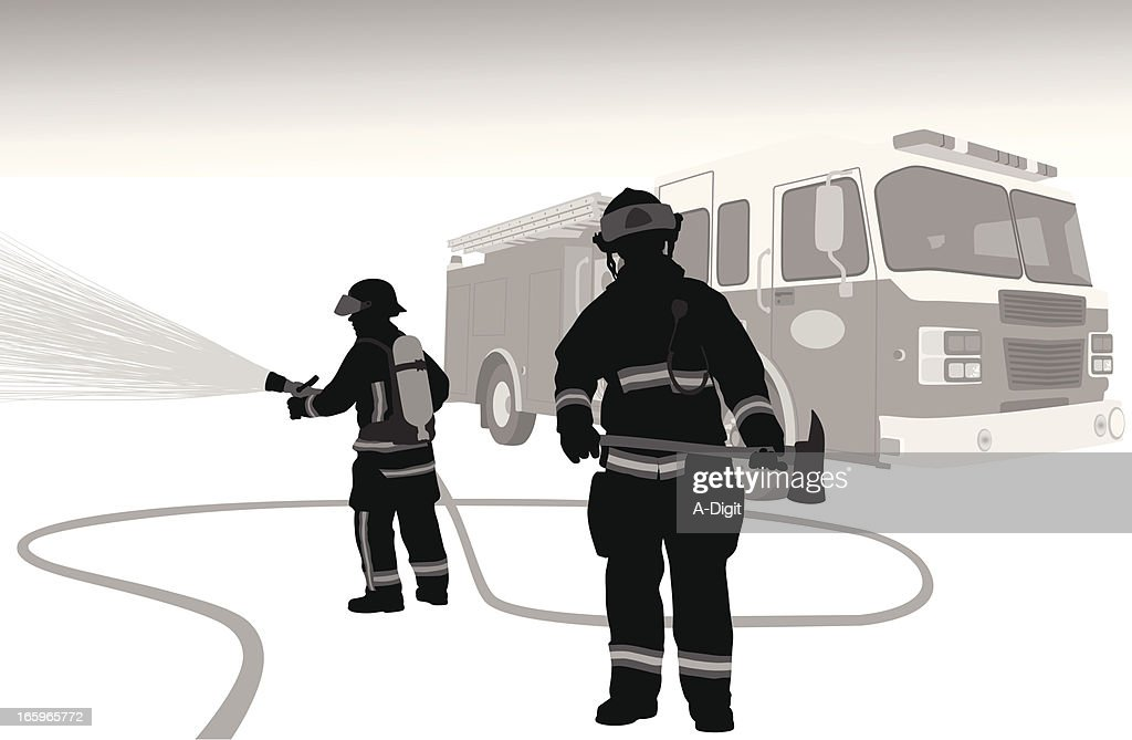 Firehose Vector Silhouette