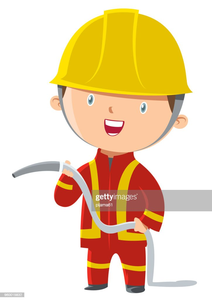 Feuerwehrmann : Stock-Illustration