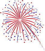 Firework design on white background