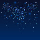 Firework in blue sky