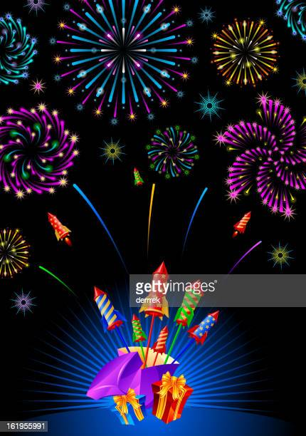 firework pyrotechnics - arugula stock illustrations, clip art, cartoons, & icons