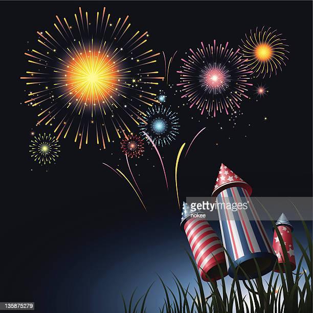 De fuegos artificiales del 4 de julio