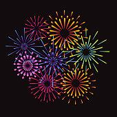 Fireworks and celebration background