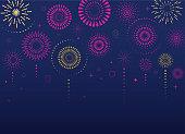 Fireworks and celebration background, winner, victory poster