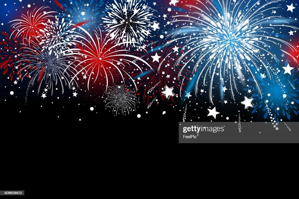 Fireworks background design vector illustration