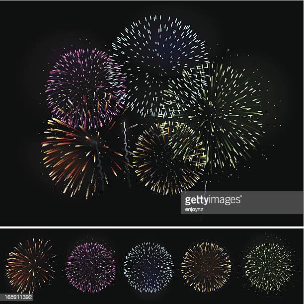花火の背景 - 花火点のイラスト素材/クリップアート素材/マンガ素材/アイコン素材