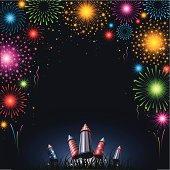 Fireworks - border