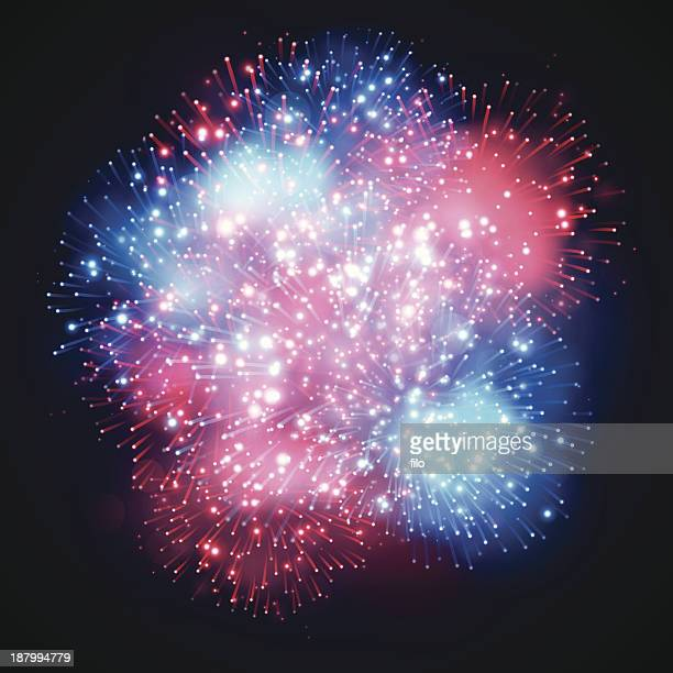 fireworks explosion - independence stock illustrations