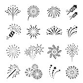 Fireworks, firecracker festival event and holiday fun.