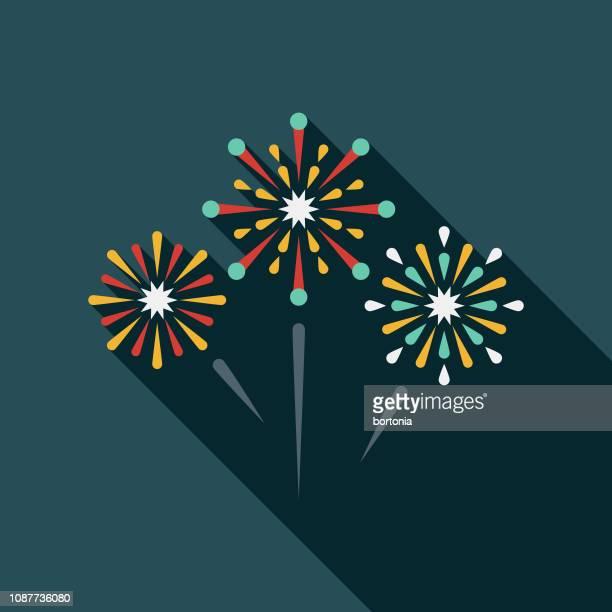 花火フラットなデザイン パーティー アイコン - 花火点のイラスト素材/クリップアート素材/マンガ素材/アイコン素材