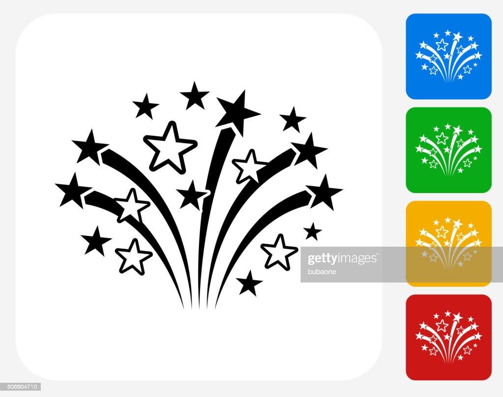 Fireworks Icon Flat Graphic Design