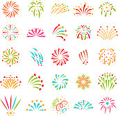 Fireworks vector icon isolated