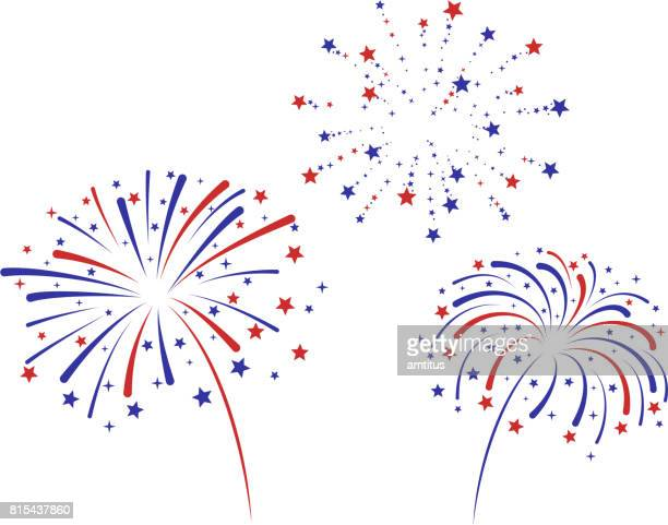 fireworks - celebration stock illustrations, clip art, cartoons, & icons