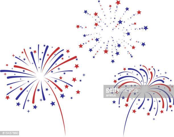 ilustraciones, imágenes clip art, dibujos animados e iconos de stock de fuegos artificiales - fuegos artificiales