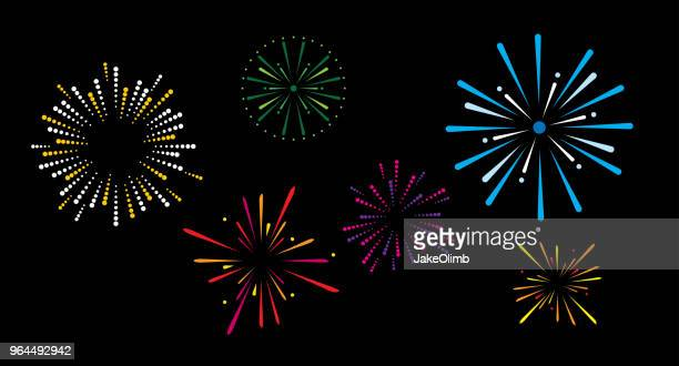 fireworks - igniting stock illustrations