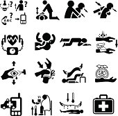 First Aid and Emergency Icon Set