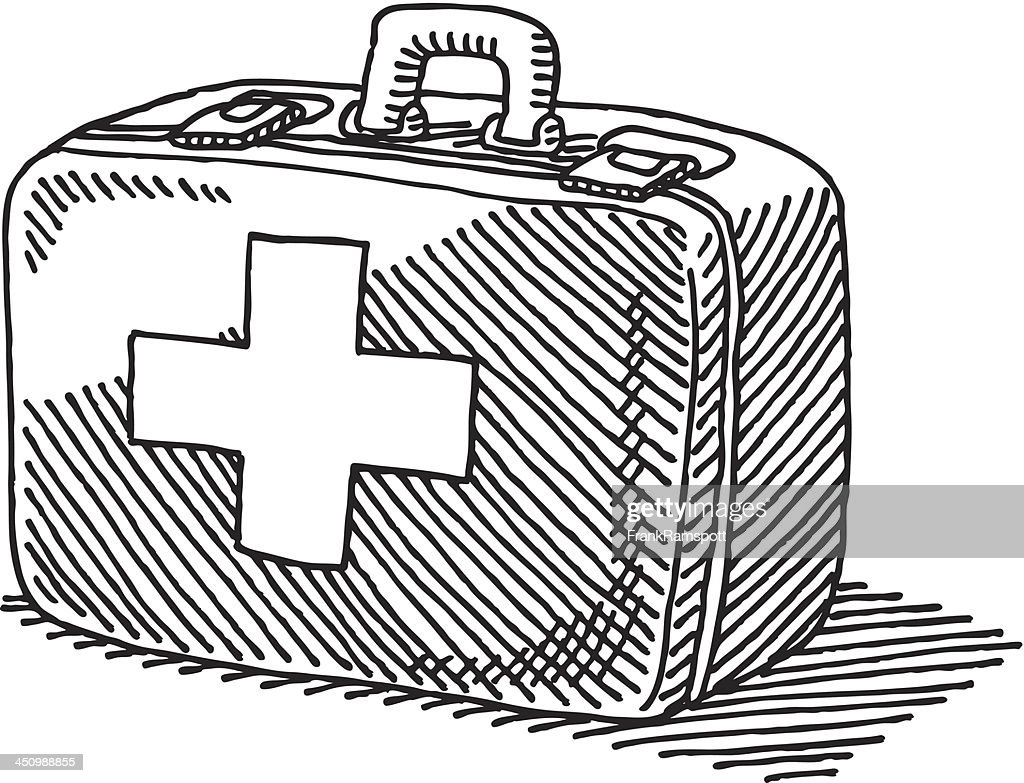 First Aid Case Drawing stock illustration - Getty Images