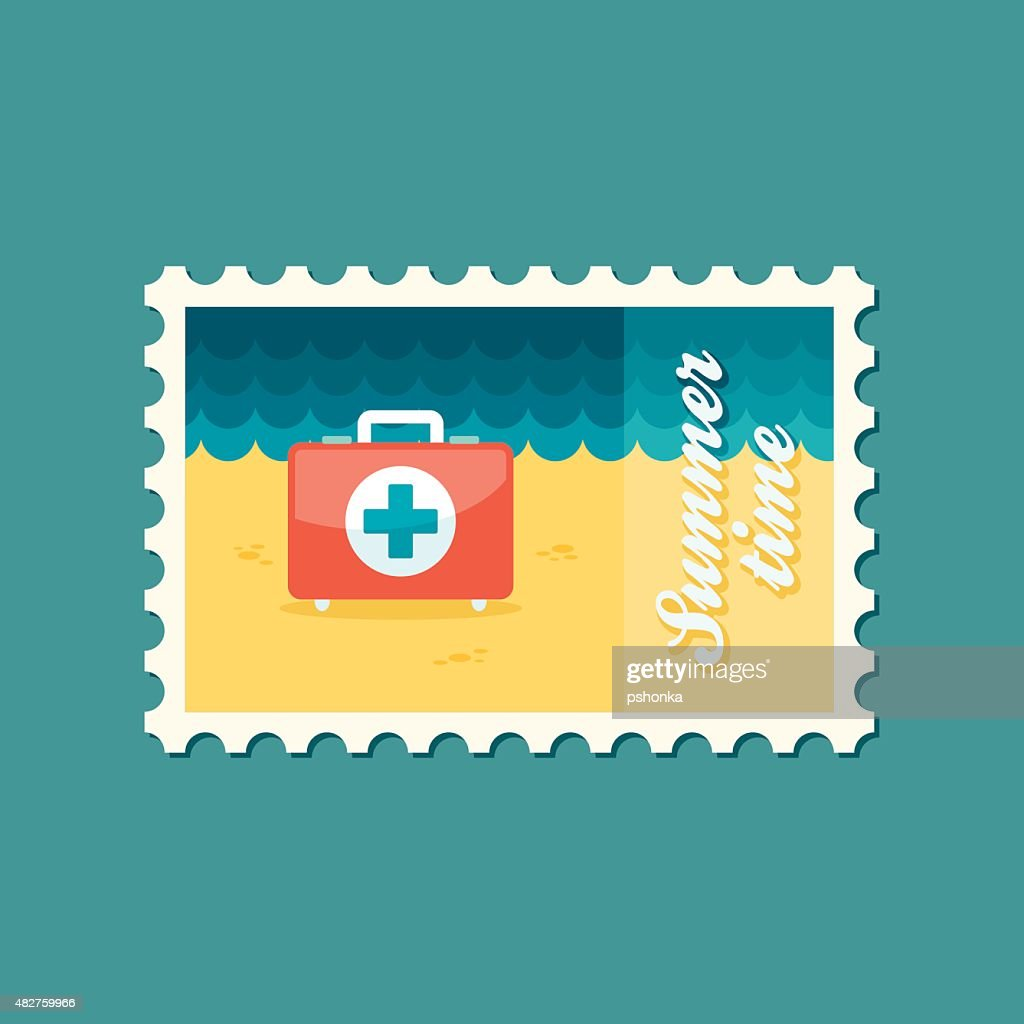 First aid flat stamp