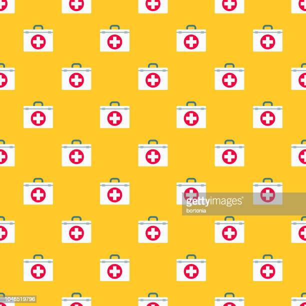 First Aid Interface Seamless Pattern