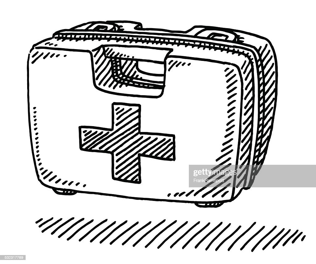 First Aid Kit Box Drawing