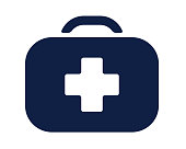 first aid kit glyph icon