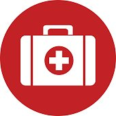 First Aid Kit icon vector design